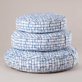 These Floor Cushions Really Stack Up (Modern Blue)