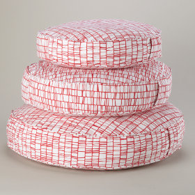 These Floor Cushions Really Stack Up (Modern Pink)