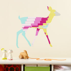 Deer Flashy Forest Wall Decal