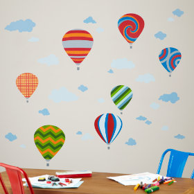 Balloon Race Wall Decals (Boy)