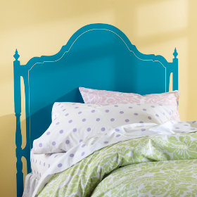 Olivia Headboard Decal (Aqua)