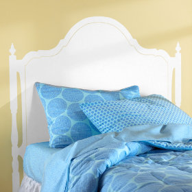 Olivia Headboard Decal (White)