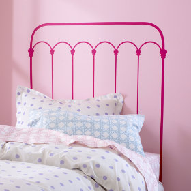 Wrought Iron Headboard Decal (Hot Pink)