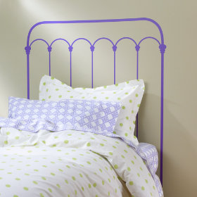 Wrought Iron Headboard Decal (Lavender)