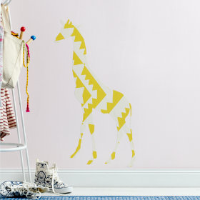 Small Giraffe Flashy Forest Decal