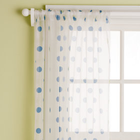 Dot Curtain Panels (Blue)