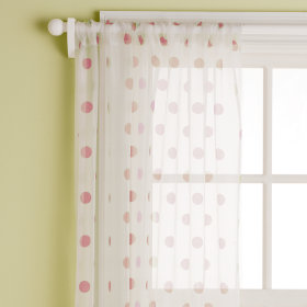 Dot Curtain Panels (Cranberry)