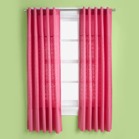 I Only Have Eyes for Eyelet Curtain Panels (Hot Pink)