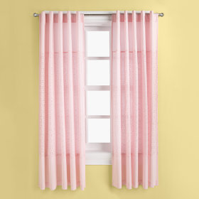 I Only Have Eyes for Eyelet Curtain Panels (Pink)
