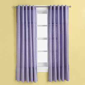 I Only Have Eyes for Eyelet Curtain Panels (Lavender)