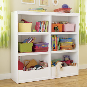 Flat Top Bookcase, 48 (White)