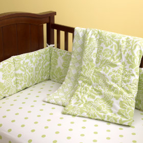 With a Flourish Crib Bedding (Green)