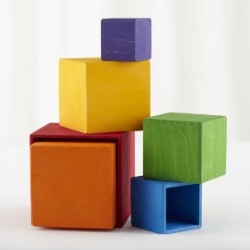 Nesting Squares Rainbow Stacker