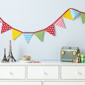 Pretty Patterned Fabric Garland