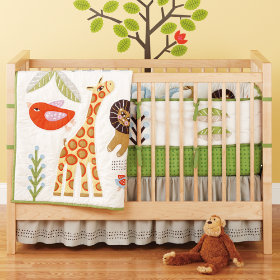 Sleepin Safari Crib Skirt
