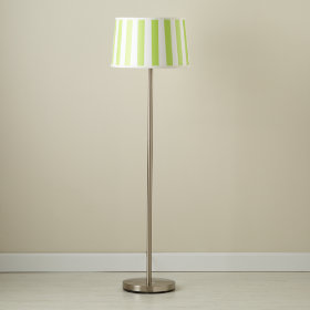 Green Stripe Floor Shade (Shown with Nickel Base)