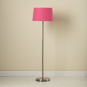 Hot Pink Floor Shade and Nickel Base