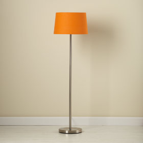 Orange Floor Shade and Nickel Base
