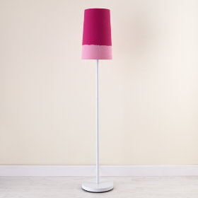 Lighten Up Pink Floor Shade (Shown with White Base)