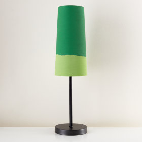 Lighten Up Green Table Shade (Shown with Graphite Base)