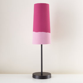 Lighten Up Pink Table Shade (Shown with Graphite Base)