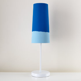 Lighten Up Blue Table Shade (Shown with White Base)