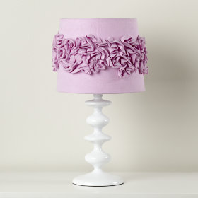 Ruffled and Ready Table Shade (Purple)