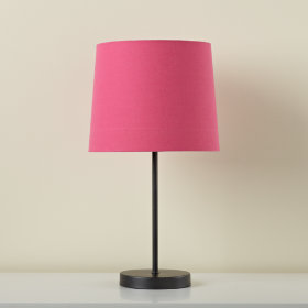 Graphite Table Base and Hot Pink Shade
