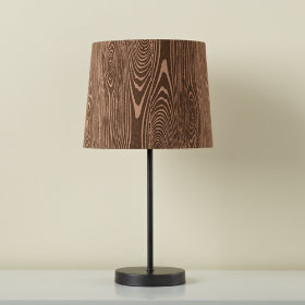 Woodgrain Table Shade (Shown with Graphite Table Base)