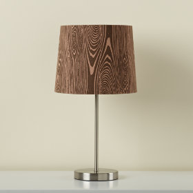 Woodgrain Table Shade (Shown with Nickel Table Base)