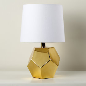 Between a Rock and a Lamp Base (Gold)