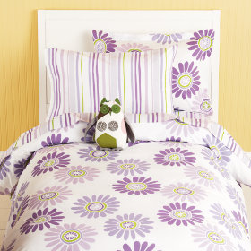 Fresh as a Daisy and Stripes Bedding (Lavender)