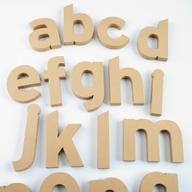 Crafty Kraft Paper Letters
