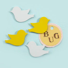 Four Little Bird Magnets (Set of 4)