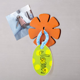 Flower Magnet Hook (Orange)