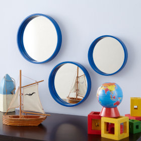 Ahoy There Mirrors (Blue, Set of 3)