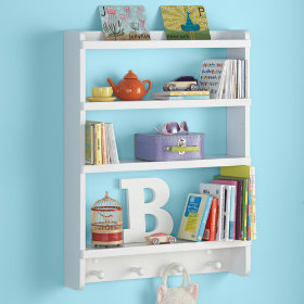 Straight and Narrow Wall Rack (White)