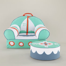Sailboat Nod Chair and Ottoman