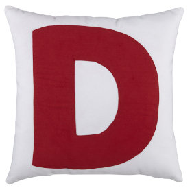 ABC Throw Pillows (Letter D)