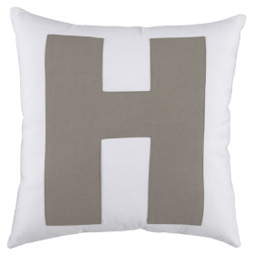 ABC Throw Pillows (Letter H)