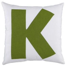ABC Throw Pillows (Letter K)