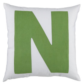 ABC Throw Pillows (Letter N)