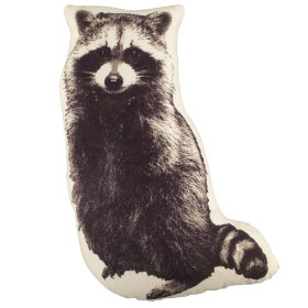 Camp Raccoon Throw Pillow