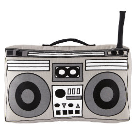 Boom Box Throw Pillow