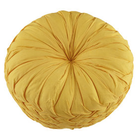 Ruched Throw Pillow (Yellow)