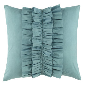 Blue Ruffle Pillow