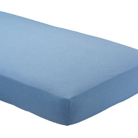 Crib Fitted Sheet (Lt. Blue Chambray)