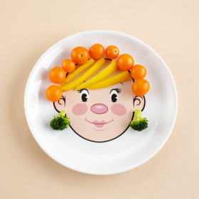 Food Face Plate (Girl)