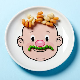 Food Face Plate (Boy)