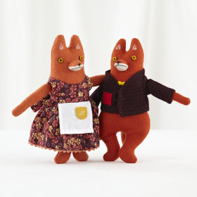 Mr and Mrs Fox (Set of 2)